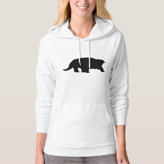 Triceratops Silhouette Hooded Sweatshirts