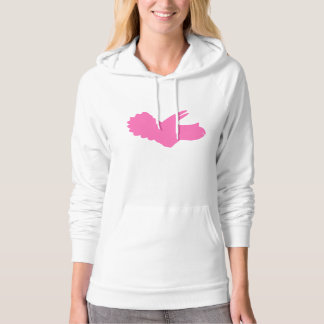 Triceratops Silhouette (Pink) Hoodie