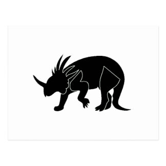 Triceratops Silhouette Postcards