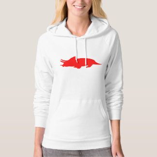 Triceratops Silhouette (Red) Hoody