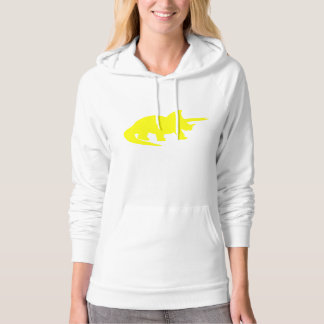 Triceratops Silhouette (Yellow) Hooded Sweatshirts
