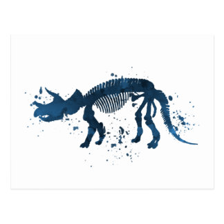 Triceratops skeleton postcard