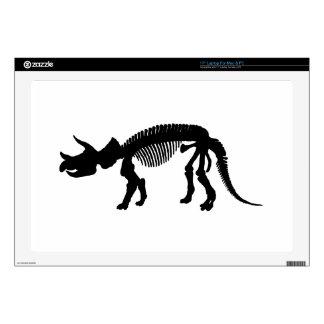 "Triceratops skeleton skins for 17"" laptops"