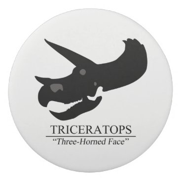 Beach Themed Triceratops Skull Eraser
