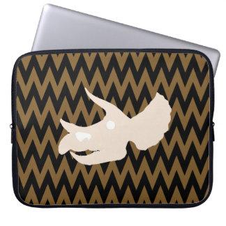 triceratops skull laptop sleeve