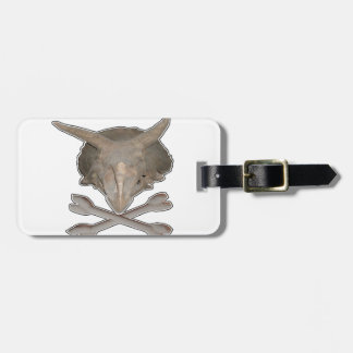 Triceratops Skull n Cross Bones Tag For Luggage