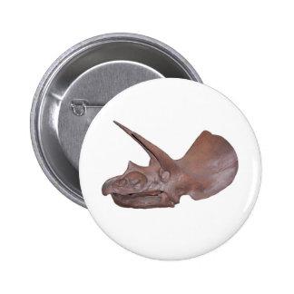 Triceratops Skull Pinback Button