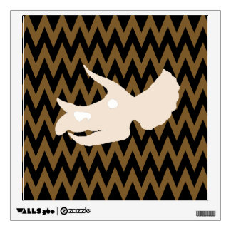 triceratops skull wall sticker