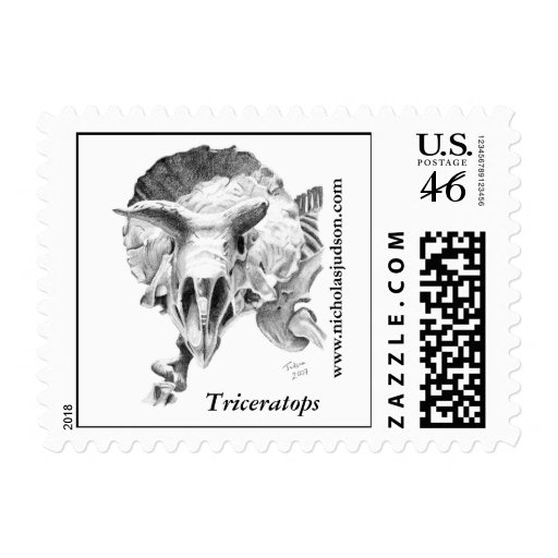 Triceratops stamps