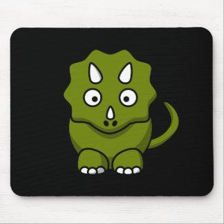 Triceratops verde lindo Mousepad Tapetes De Ratón