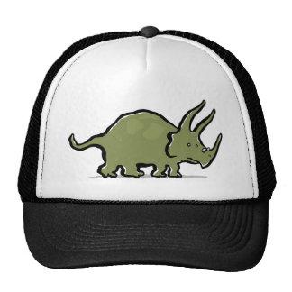 triceratops wearing glasses trucker hat
