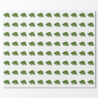 Triceratops Wrapping Paper