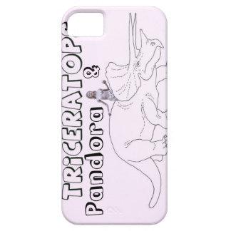 Triceratops y Pandora iPhone 5 Carcasas