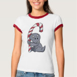Triceratops's Candy Cane T-Shirt