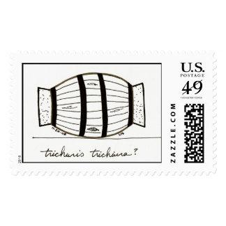 Trichuris trichiuria stamp