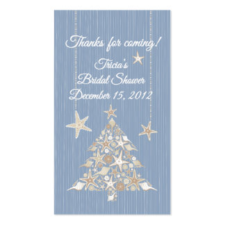 Tricia's Bridal Shower Tag Business Card Template