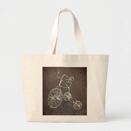 Triciclo antiguo bolsa tela grande