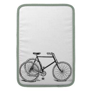 Triciclo antiguo del vintage funda para macbook air