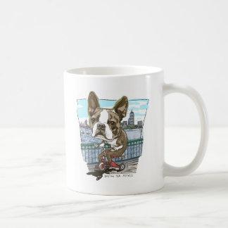 Triciclo de Boston Terrier Tazas De Café