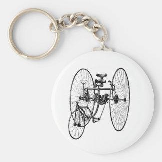 Triciclo de la bicicleta de tres ruedas llavero redondo tipo pin