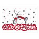 triciclo de la escuela vieja postales
