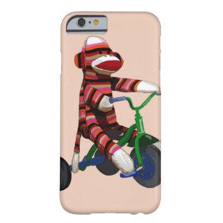 Triciclo del mono del calcetín funda barely there iPhone 6