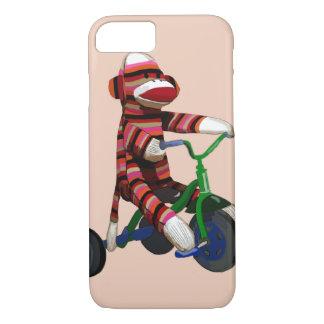 Triciclo del mono del calcetín funda iPhone 7