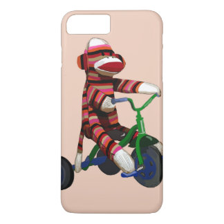Triciclo del mono del calcetín funda iPhone 7 plus