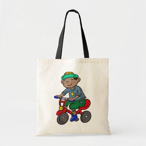 Triciclo del montar a caballo del muchacho bolsa de mano