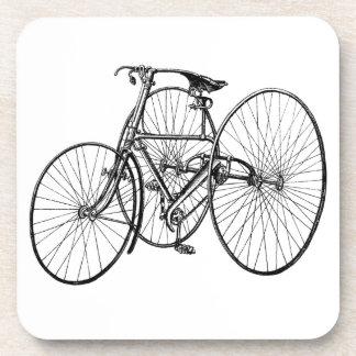 Triciclo del vintage - bicicleta de tres ruedas posavaso