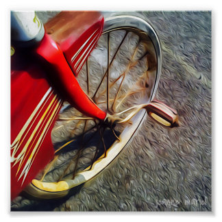 Triciclo del vintage poster