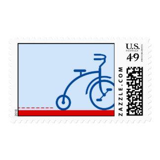 Triciclo del vintage sellos