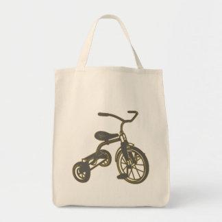 Triciclo gris bolsa de mano