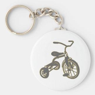 Triciclo gris llavero personalizado