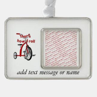 ¡Triciclo - que es cómo ruedo! Marcos De Adorno Plateado