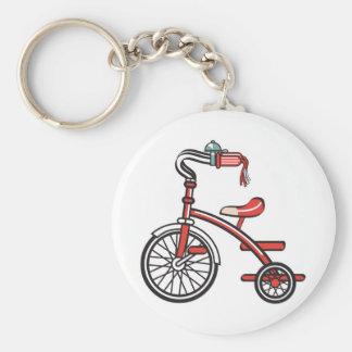 triciclo retro llavero redondo tipo pin