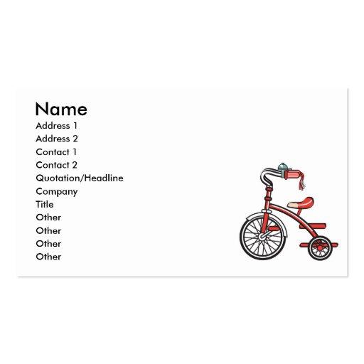 triciclo retro plantillas de tarjetas personales