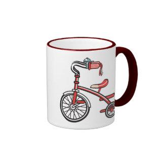 triciclo retro, triciclo retro taza a dos colores