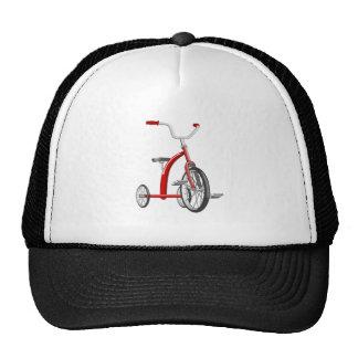 Triciclo rojo realista gorro