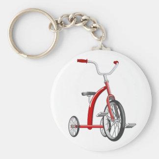 Triciclo rojo realista llaveros