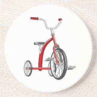 Triciclo rojo realista posavasos para bebidas
