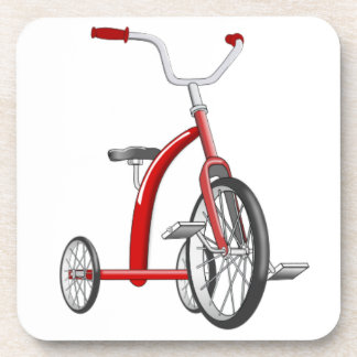 Triciclo rojo realista posavasos