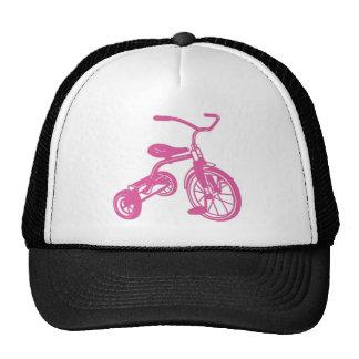 Triciclo rosado gorros