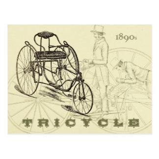 Triciclo temprano de los 1890s postal