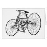 Triciclo temprano Steampunk de la bicicleta del ar Felicitaciones