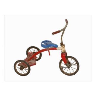Triciclo viejo postal