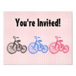 Triciclos del vintage invitación 10,8 x 13,9 cm