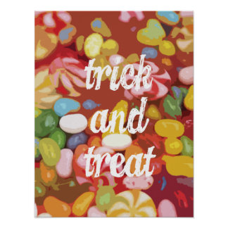 Trick and Treat Candy Poster