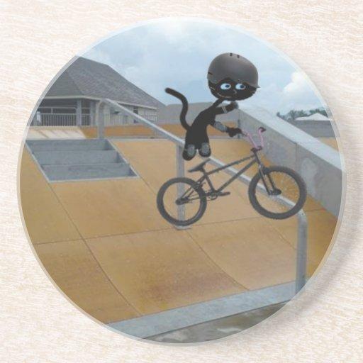 Trick Bike Cat Coasters