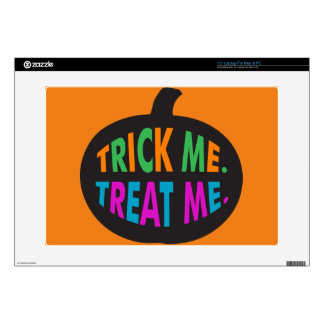 """Trick Me Treat Me Multi-Color Decal For 15"""" Laptop"""